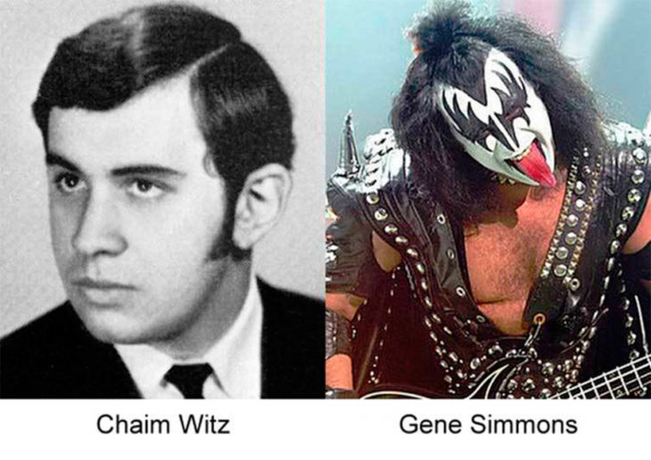 Antes y después de Gene Simmons