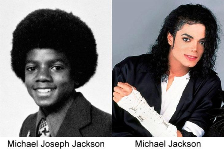 antes y después de michael jackson