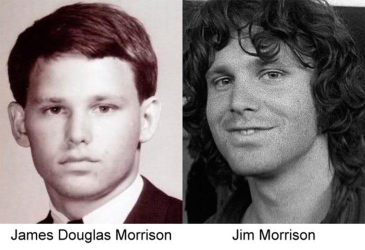 antes y después de jim morrison