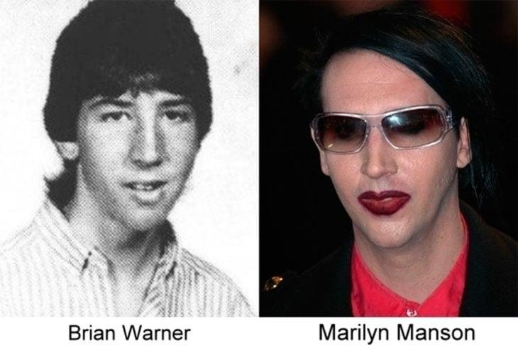 antes y después de marilyn manson