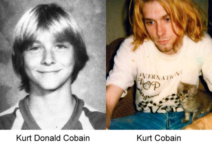 antes y después de kurt cobain