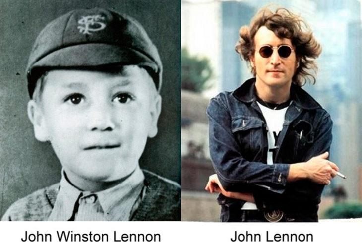 antes y después de john winton lennon