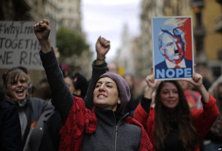 protesta de las mujeres en españa
