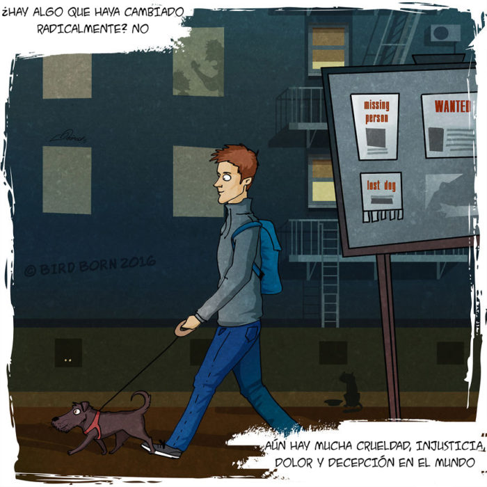 un hombre que camina con un perro que recién adoptó en un refugio animal