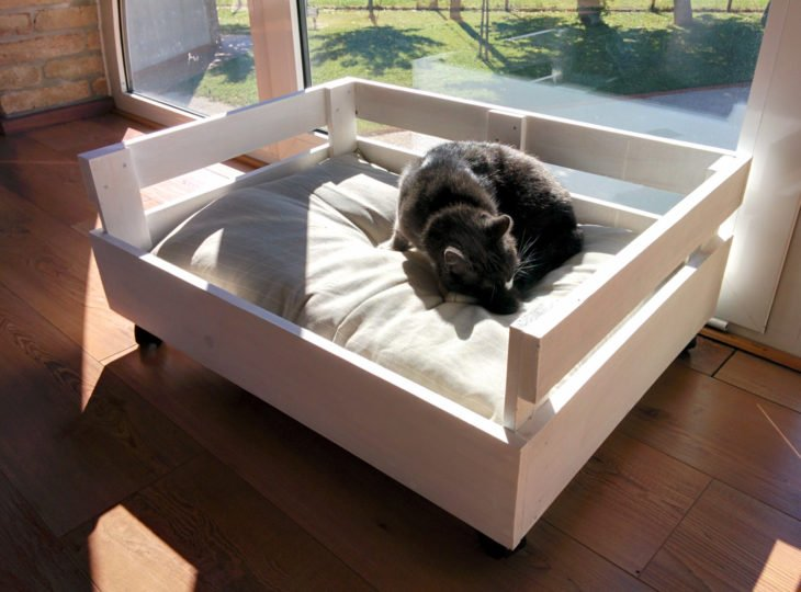 cama casera para perro