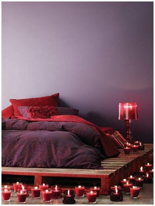 cama romántica