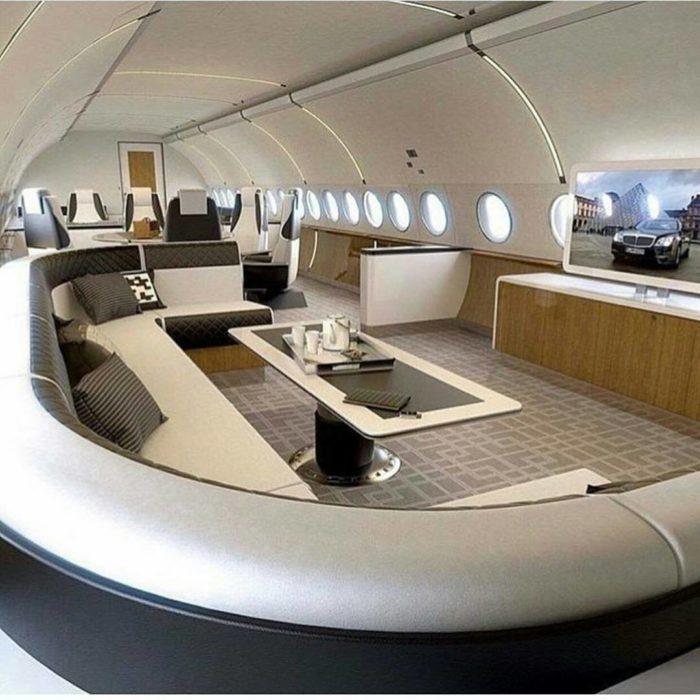 club de juegos en avión