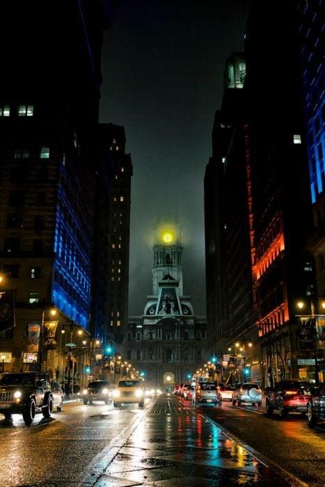 edificio con aspecto macabro en Estados Unidos
