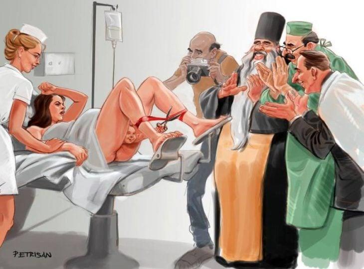 caricatura sobre el nacimiento
