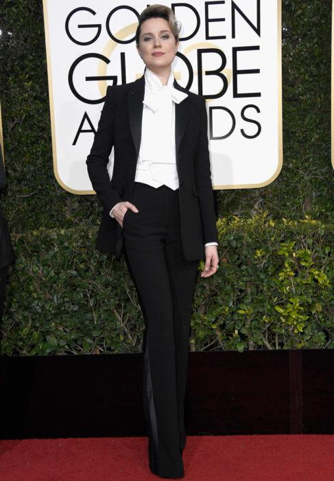 Evan Rachel Wood en los globos de oro 2017