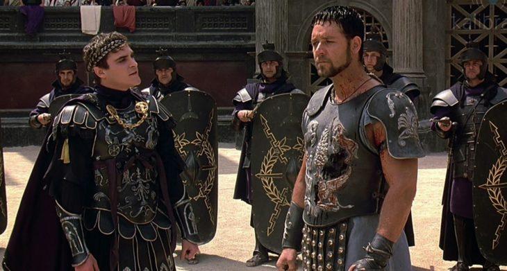 escena de la película gladiator en el año 2000