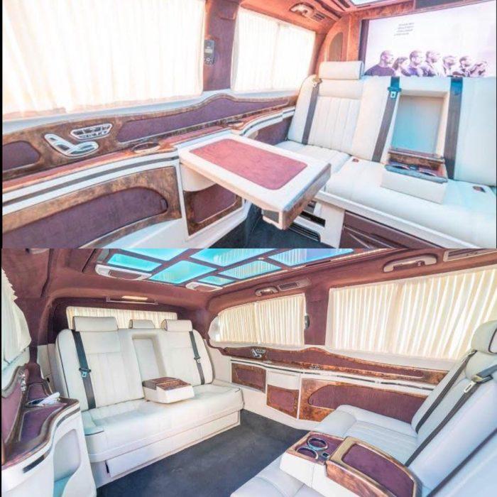 interior lujoso de automóvil