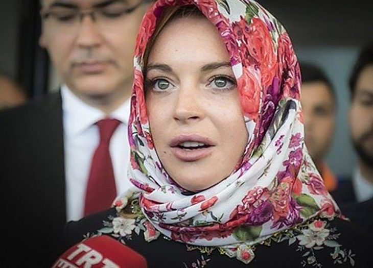 lisday lohan con hiyab