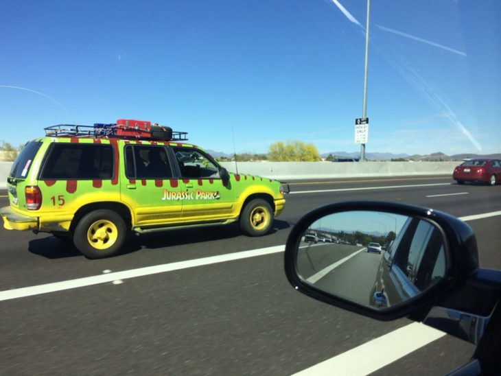 camioneta de jurasik park