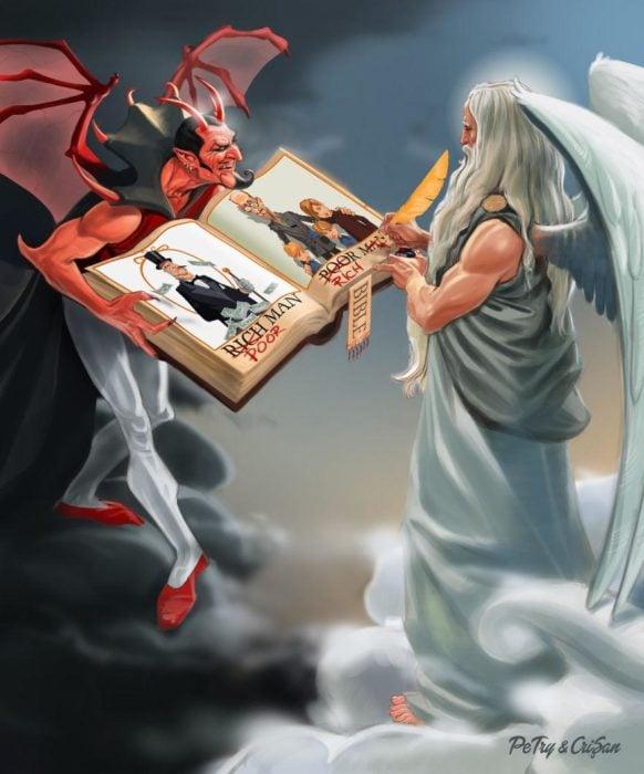 caricatura de crítica a la Biblia