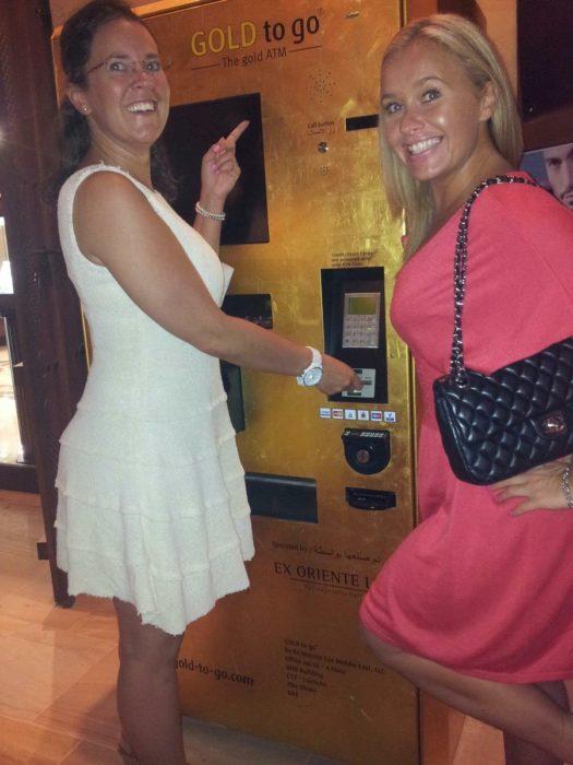 máquina expendedora de lingote de oro