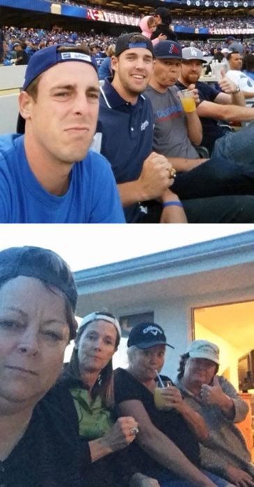 mamás copiaron una selfie de sus hijos