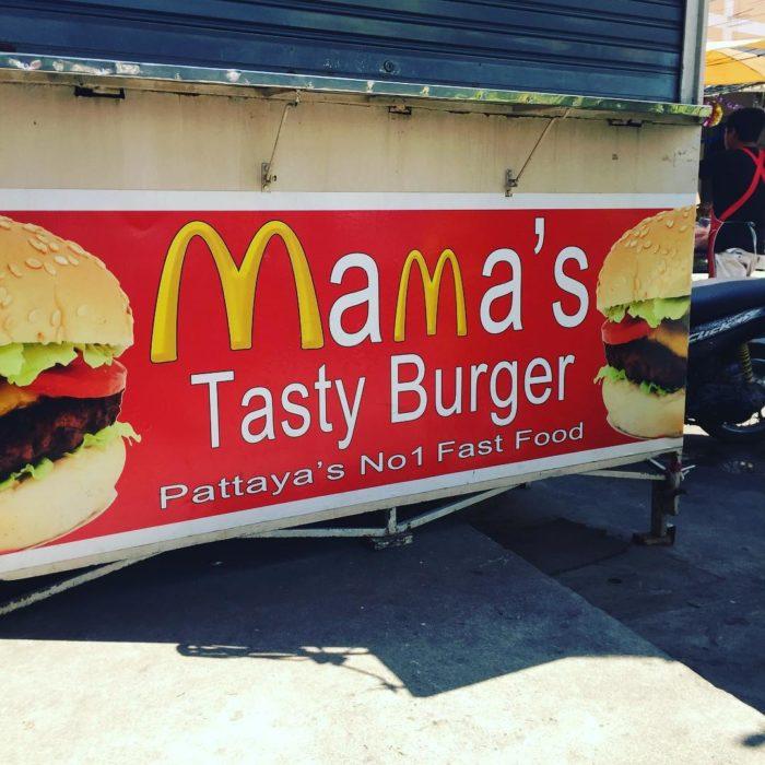 puesto de hamburguesas macdonalds pirata