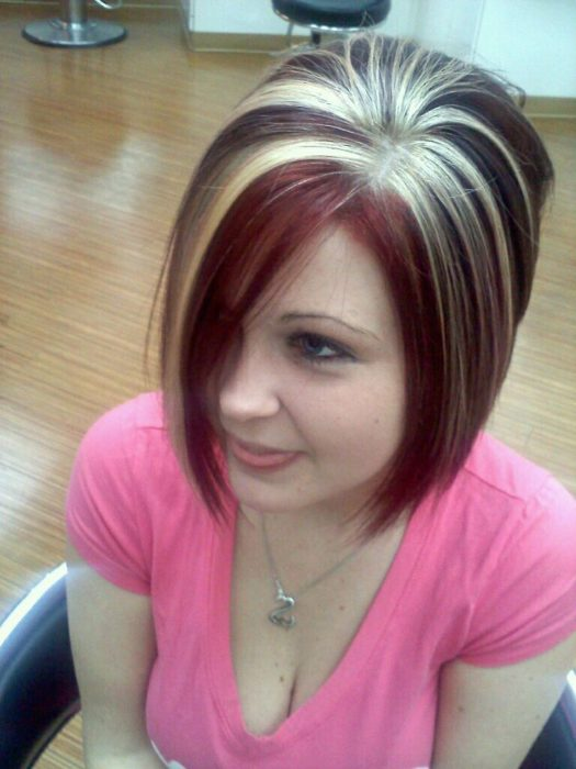 mechas rubias en el cabello