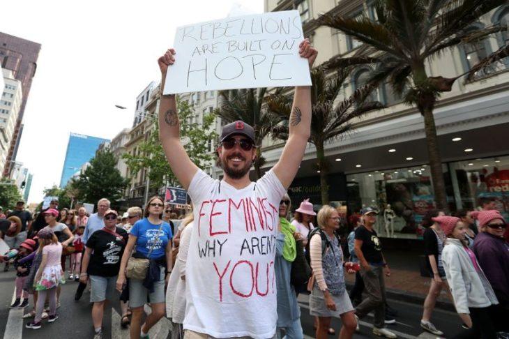 marcha de las mujeres en nueva zelanda