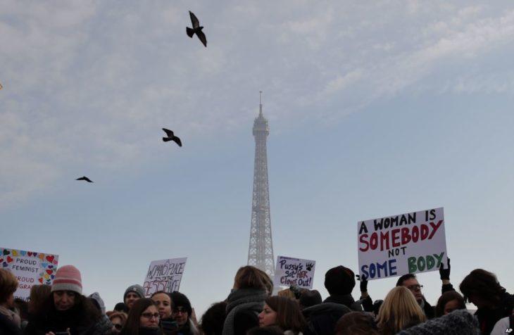 marcha de las mujeres en francia