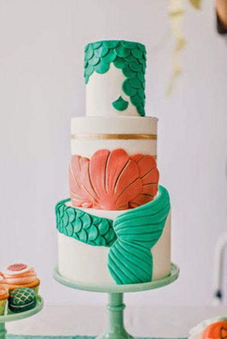 """pastel inspirado en """"la sirenita"""""""