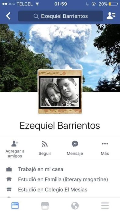 perfil de un niño en facebook