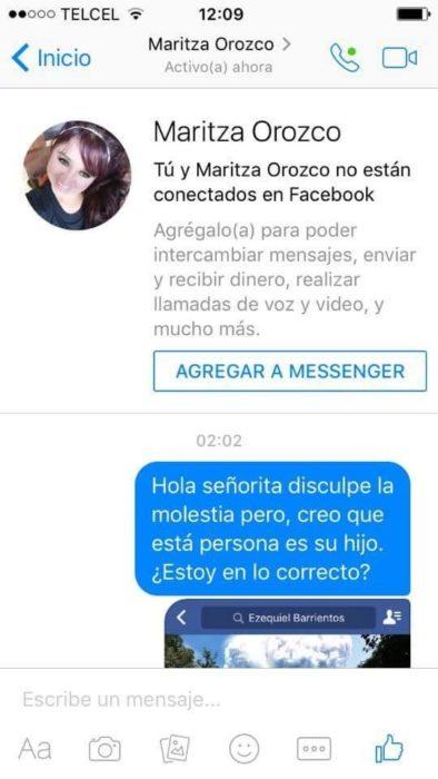 conversación de chat en facebook