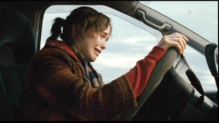 Juno película llorando auto