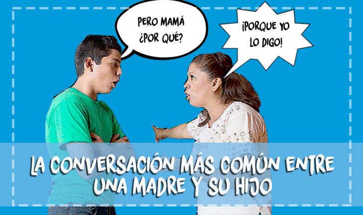 mamá e hijo discutiendo