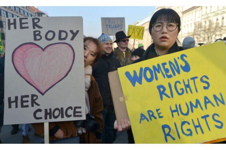 marcha de las mujeres e la república checa