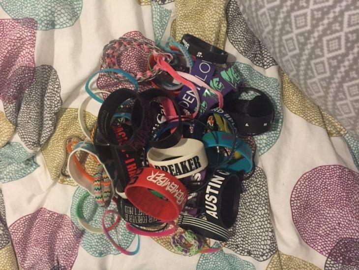 pulseras de plástico