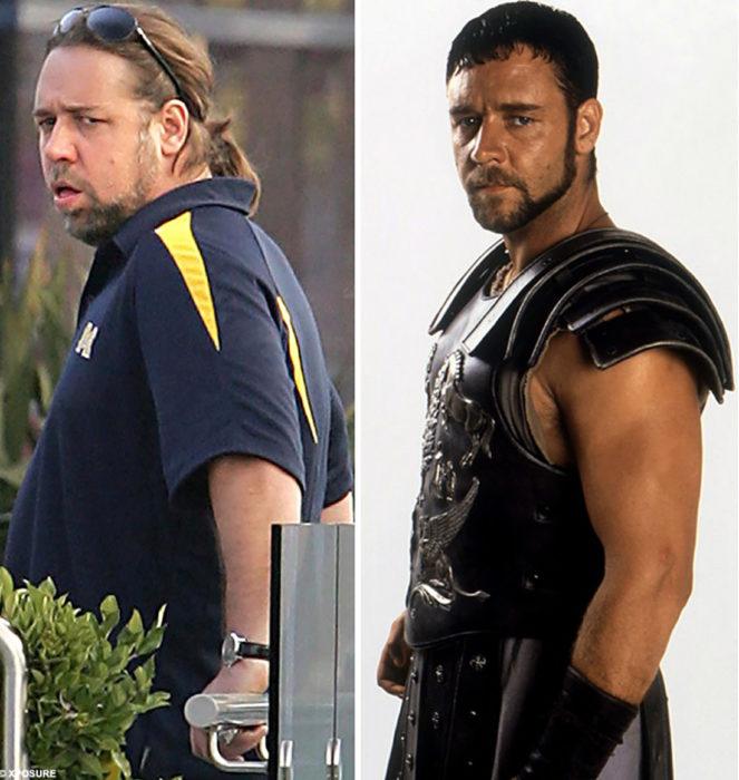 Russel Crowe antes y después
