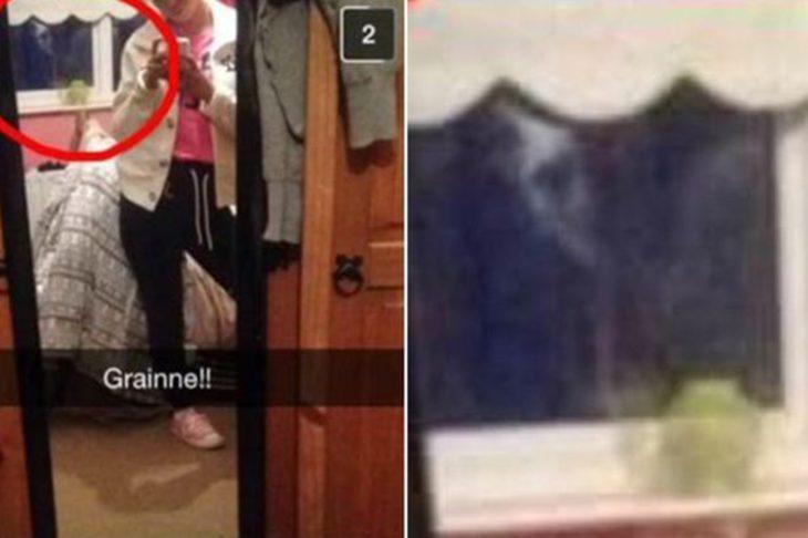 un fantasma captado a través de snapchat