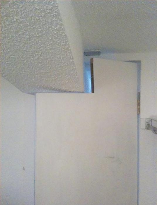 puerta con corte para el techo