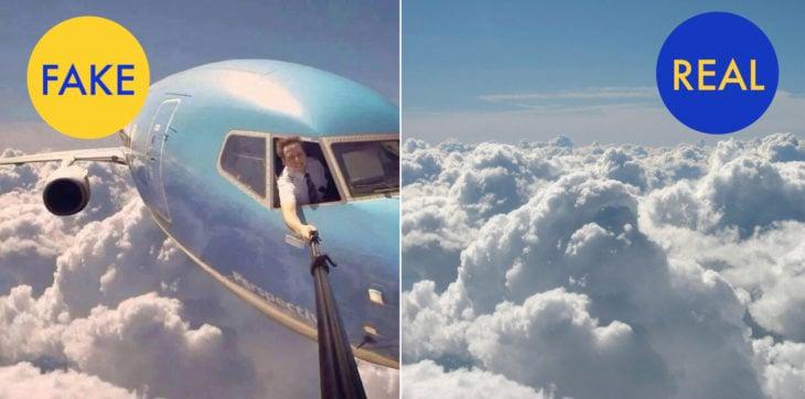 selfie de piloto de avión