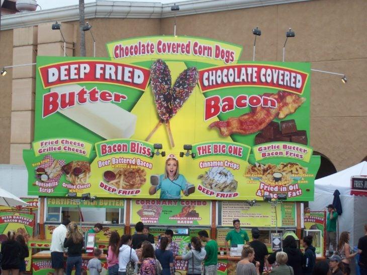 publicidad de comida americana