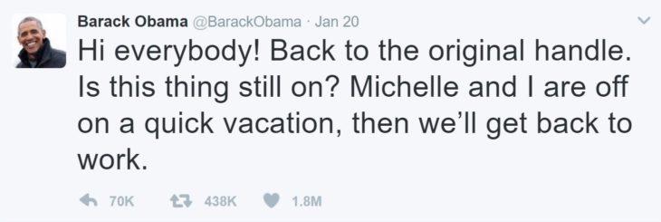 Obama tuit