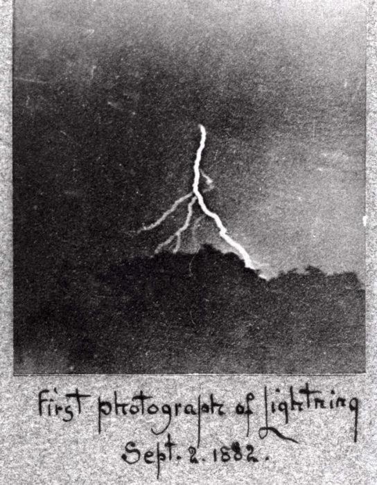 primera fotografía de un rayo