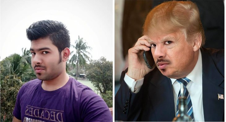 chico editado como donald trump