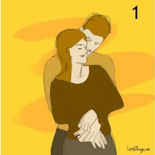abrazo por atrás