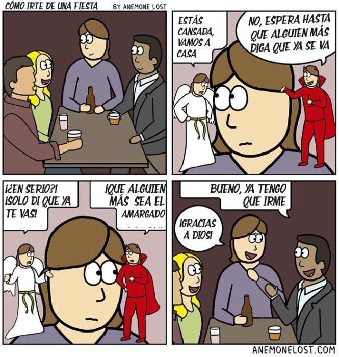 ilustraciones como irte de una fiesta