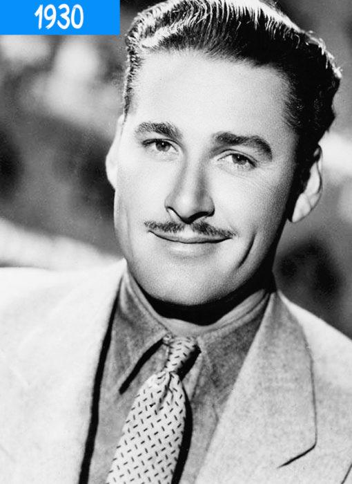 hombre de 1930 con bigote