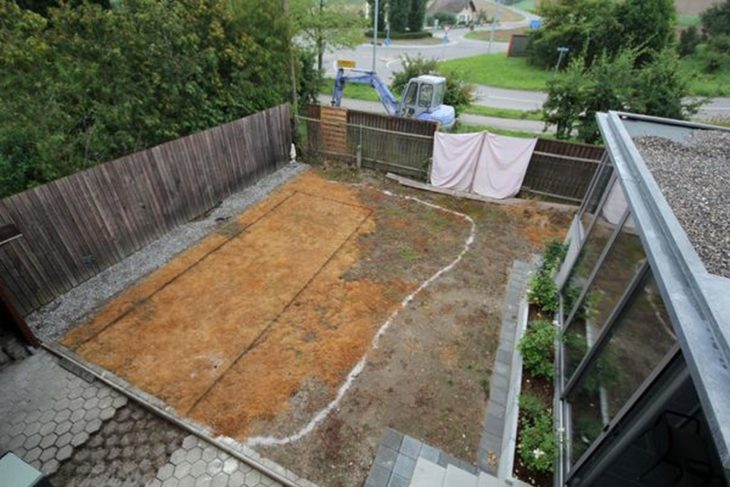 patio trasero seco