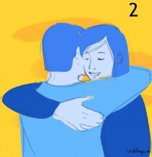 abrazo susurrando al oido