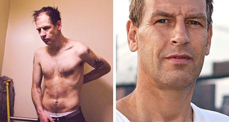 hombre delgado a la izquierda a la derecha misma hombre recuperado