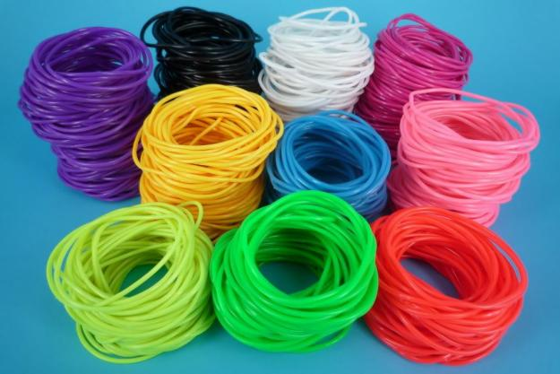 Pulseras colores de hule