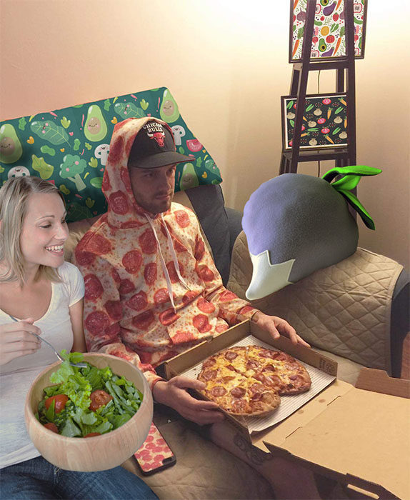 Batalla pizza y novia