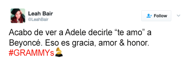 tuit adele gracia amor y honor