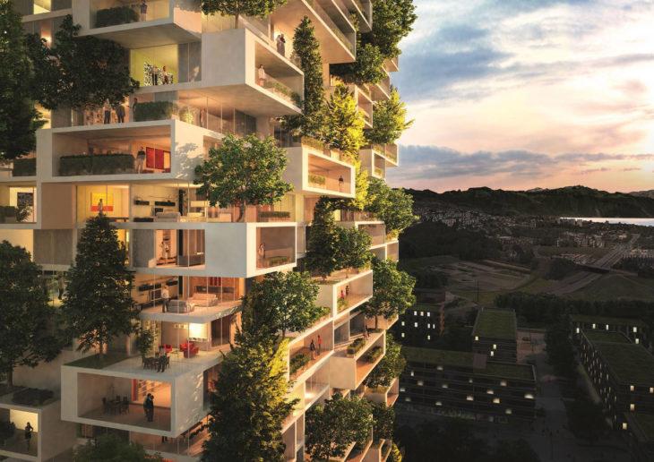 maqueta de proyecto para edificios verdes